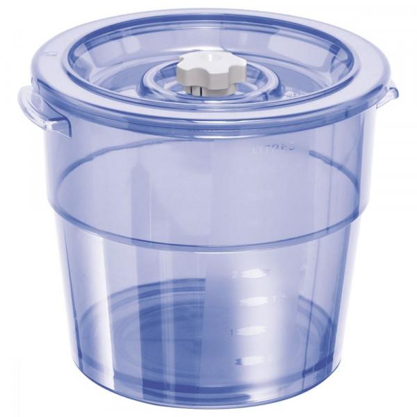 Vakuum Ventil-Behälter rund 4l