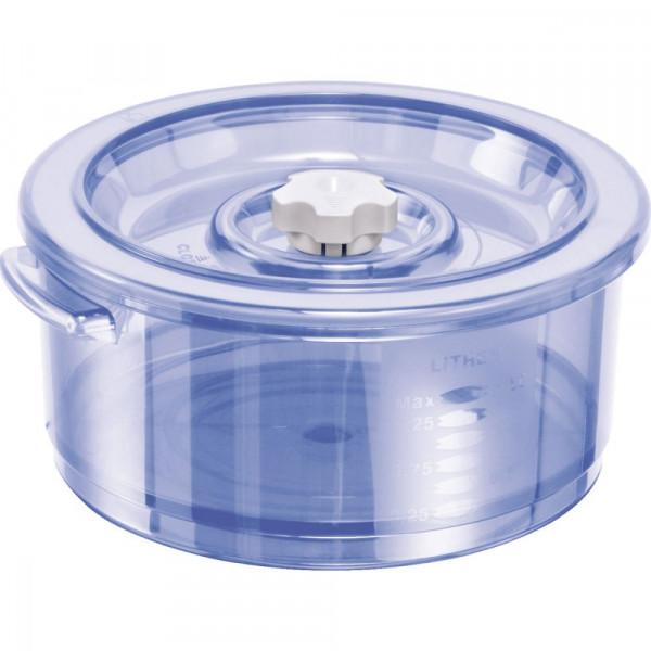 Vakuum Ventil-Behälter rund 1,5l