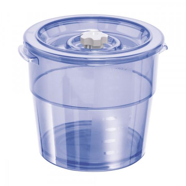 Vakuum Ventil-Behälter rund 2l